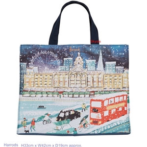 กระเป๋า  Harrods Travelling Home For Christmas Grocery Shopper Bag  แท้ 100%