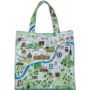 กระเป๋า  Harrods Small London Map Shopper Bag แท้ 100%