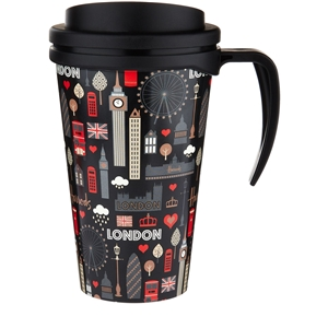 Harrods Glitter London Thermal Travel Mug