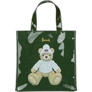 กระเป๋า Harrods Small Joshua Christmas Bear 2019 Shopper Bag แท้ 100%