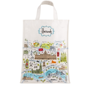 กระเป๋า Harrods Medium London Map Shopper Bag แท้ 100%