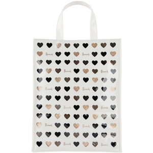 กระเป๋า Harrods Medium Glitter Hearts Shopper Bag แท้ 100%