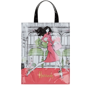 กระเป๋า Harrods Megan Hess Medium Luxury Lifestyle Shopper Bag แท้ 100%